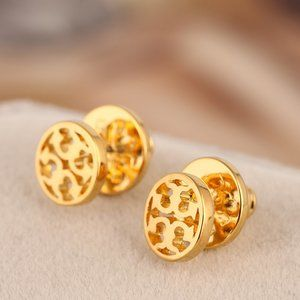Tory Burch Golden Round Earrings